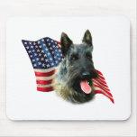 Bandera (brindle) de Terrier del escocés Tapete De Ratón