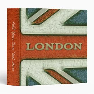"""Bandera BRITÁNICA 1,5"""" de Londres carpeta"""