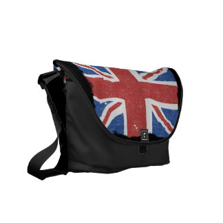 Bandera BRITÁNICA 2 del vintage Bolsa De Mensajería