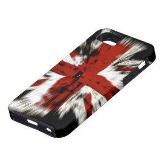 Bandera BRITÁNICA abstracta iPhone 5 Carcasas