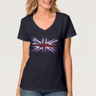 Bandera BRITÁNICA abstracta Poleras
