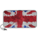 Bandera británica altavoces de viajar