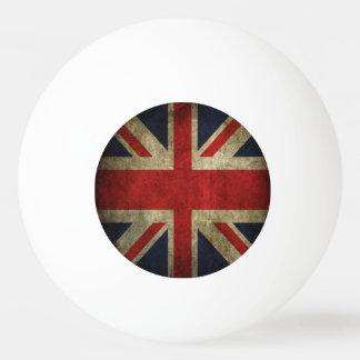 Bandera británica antigua de Union Jack de Gran Br Pelota De Ping Pong