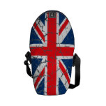 Bandera británica apenada bolsas de mensajeria
