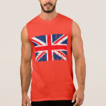 Bandera británica apenada camisetas