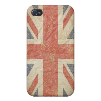 Bandera británica apenada iPhone 4 carcasa