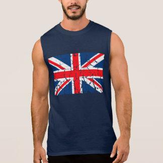 Bandera británica apenada playera sin mangas