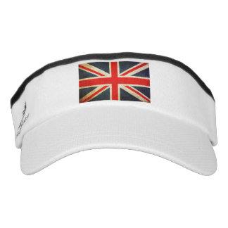 Bandera británica apenada visera