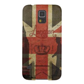 Bandera británica, autobús rojo, Big Ben y autores Fundas De Galaxy S5