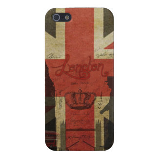 Bandera británica, autobús rojo, Big Ben y autores iPhone 5 Funda