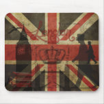 Bandera británica, autobús rojo, Big Ben y autores Alfombrillas De Ratón