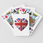 Bandera británica baraja de cartas
