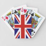 Bandera británica barajas de cartas