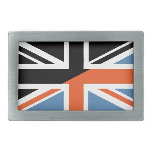 Bandera (BRITÁNICA) británica clásica de Union Jac Hebillas Cinturon Rectangulares