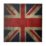 Bandera británica BRITÁNICA de Union Jack de la an Azulejos Ceramicos