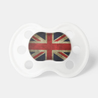 Bandera británica BRITÁNICA de Union Jack de la an Chupete De Bebé