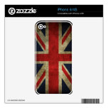 Bandera británica BRITÁNICA de Union Jack de la an iPhone 4S Skins