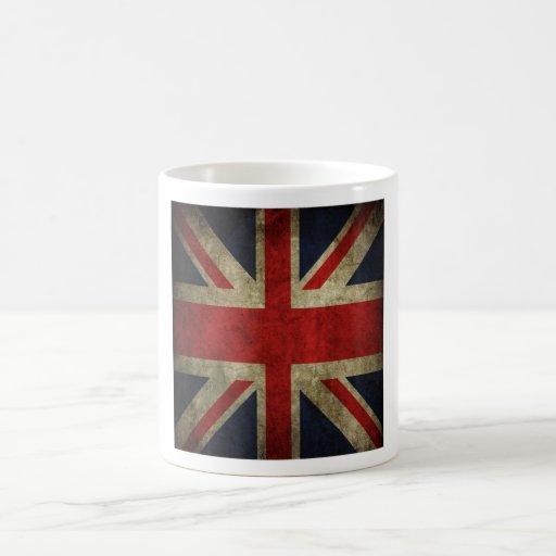 Bandera británica BRITÁNICA de Union Jack de la an Taza