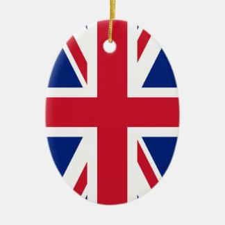 Bandera británica BRITÁNICA de Union Jack Ornamento De Reyes Magos