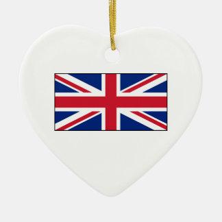 Bandera británica BRITÁNICA de Union Jack Ornamento Para Arbol De Navidad