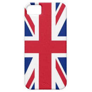 Bandera británica BRITÁNICA de Union Jack iPhone 5 Carcasas