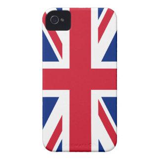 Bandera británica BRITÁNICA de Union Jack iPhone 4 Case-Mate Cárcasas