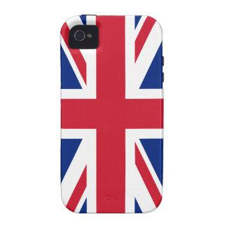 Bandera británica BRITÁNICA de Union Jack Vibe iPhone 4 Funda