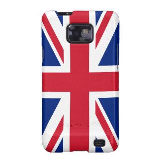 Bandera británica BRITÁNICA de Union Jack Galaxy S2 Carcasas