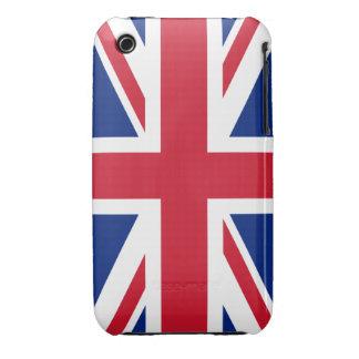 Bandera británica BRITÁNICA de Union Jack Case-Mate iPhone 3 Cárcasas