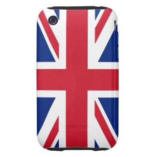 Bandera británica BRITÁNICA de Union Jack Tough iPhone 3 Cobertura