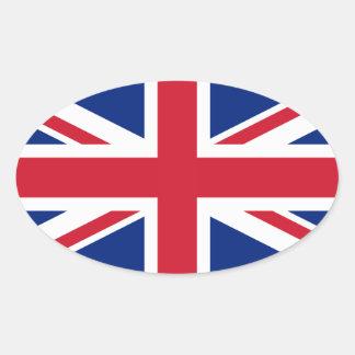 Bandera británica BRITÁNICA de Union Jack Pegatina De Oval Personalizadas