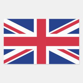 Bandera británica BRITÁNICA de Union Jack Rectangular Pegatina