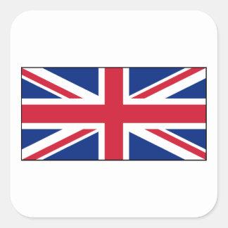 Bandera británica BRITÁNICA de Union Jack Calcomania Cuadradas Personalizadas
