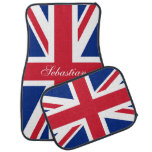 Bandera británica BRITÁNICA de Union Jack personal Alfombrilla De Coche