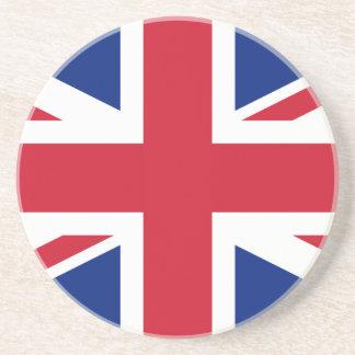Bandera británica BRITÁNICA de Union Jack Posavasos Personalizados