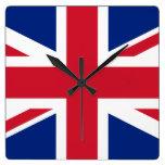 Bandera británica BRITÁNICA de Union Jack Relojes De Pared