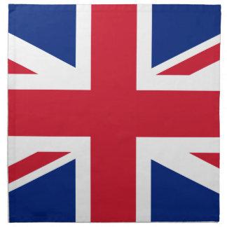 Bandera británica BRITÁNICA de Union Jack Servilletas De Papel
