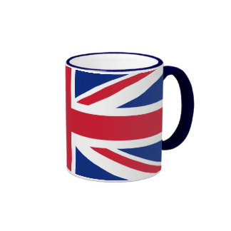 Bandera británica BRITÁNICA de Union Jack Tazas De Café