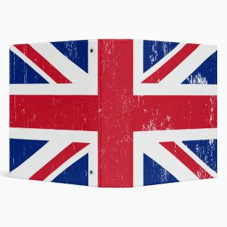 """Bandera británica BRITÁNICA del inglés de Gran Bre Carpeta 1 1/2"""""""