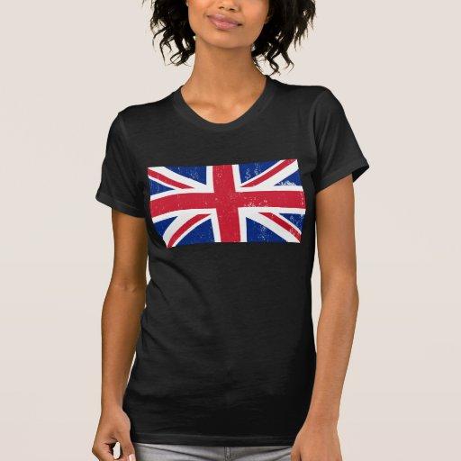 Bandera británica BRITÁNICA del inglés de Gran Bre Camisetas