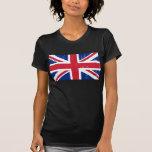 Bandera británica BRITÁNICA del inglés de Gran Bre Camiseta