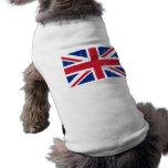 Bandera británica BRITÁNICA del inglés de Gran Bre Camisetas De Perro