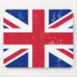 Bandera británica BRITÁNICA del inglés de Gran Bre Tapetes De Raton