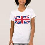 Bandera británica BRITÁNICA del inglés de Gran Camiseta
