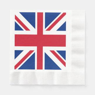 Bandera británica BRITÁNICA Gran Bretaña de Union Servilleta Desechable