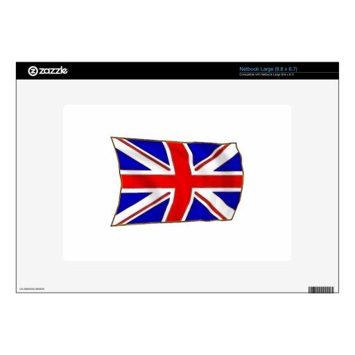 Bandera británica calcomanía para netbook