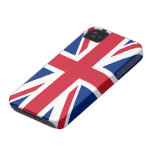 Bandera BRITÁNICA Case-Mate iPhone 4 Fundas