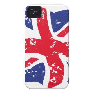 Bandera BRITÁNICA Case-Mate iPhone 4 Protectores