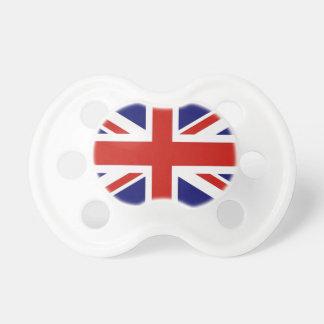 Bandera británica chupetes para bebés