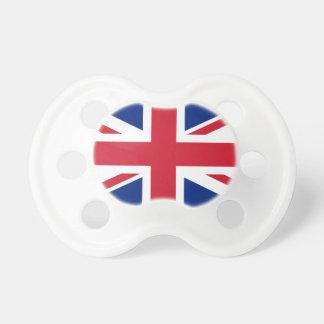 Bandera británica chupetes de bebe